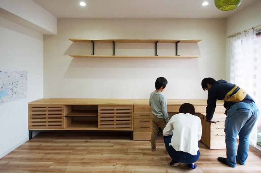 オーダー家具・TVボード+デスク/関西・大阪