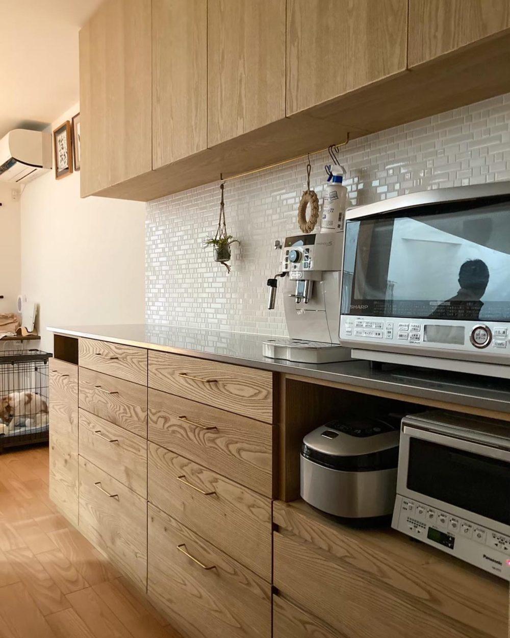 オーダー家具・カップボードとタイル工事/関西・大阪