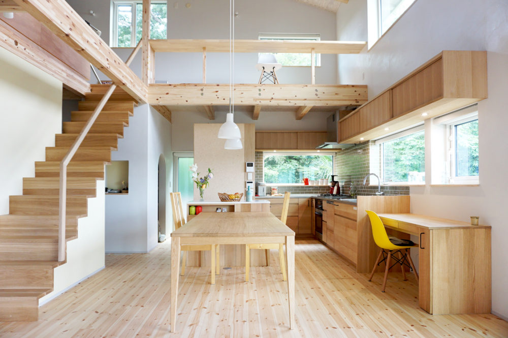 オーダー家具/階段、手すり、キッチン、カウンター、ダイニングテーブル/関西・奈良