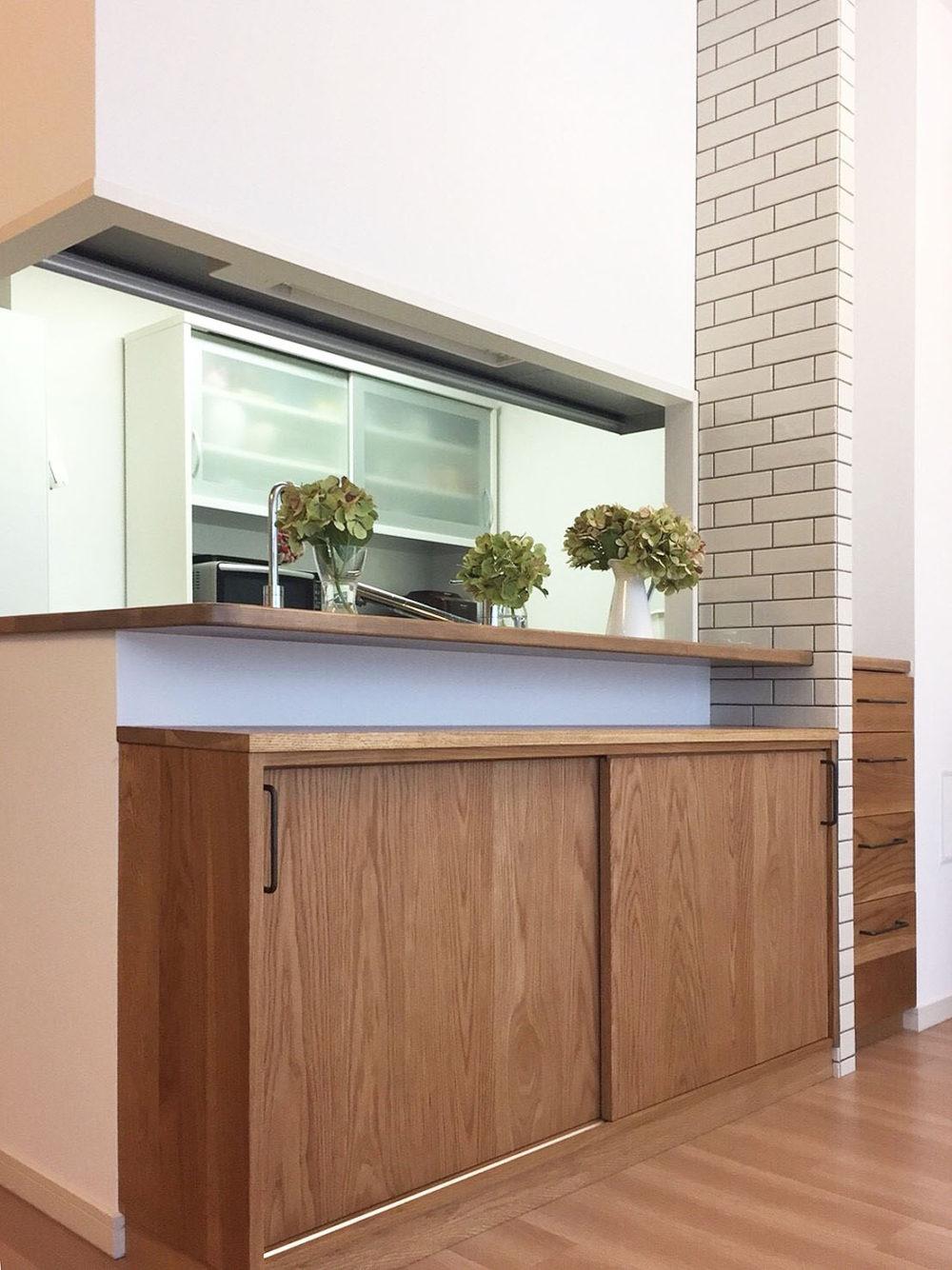 オーダー家具・カウンター下収納・食器棚/関西・大阪