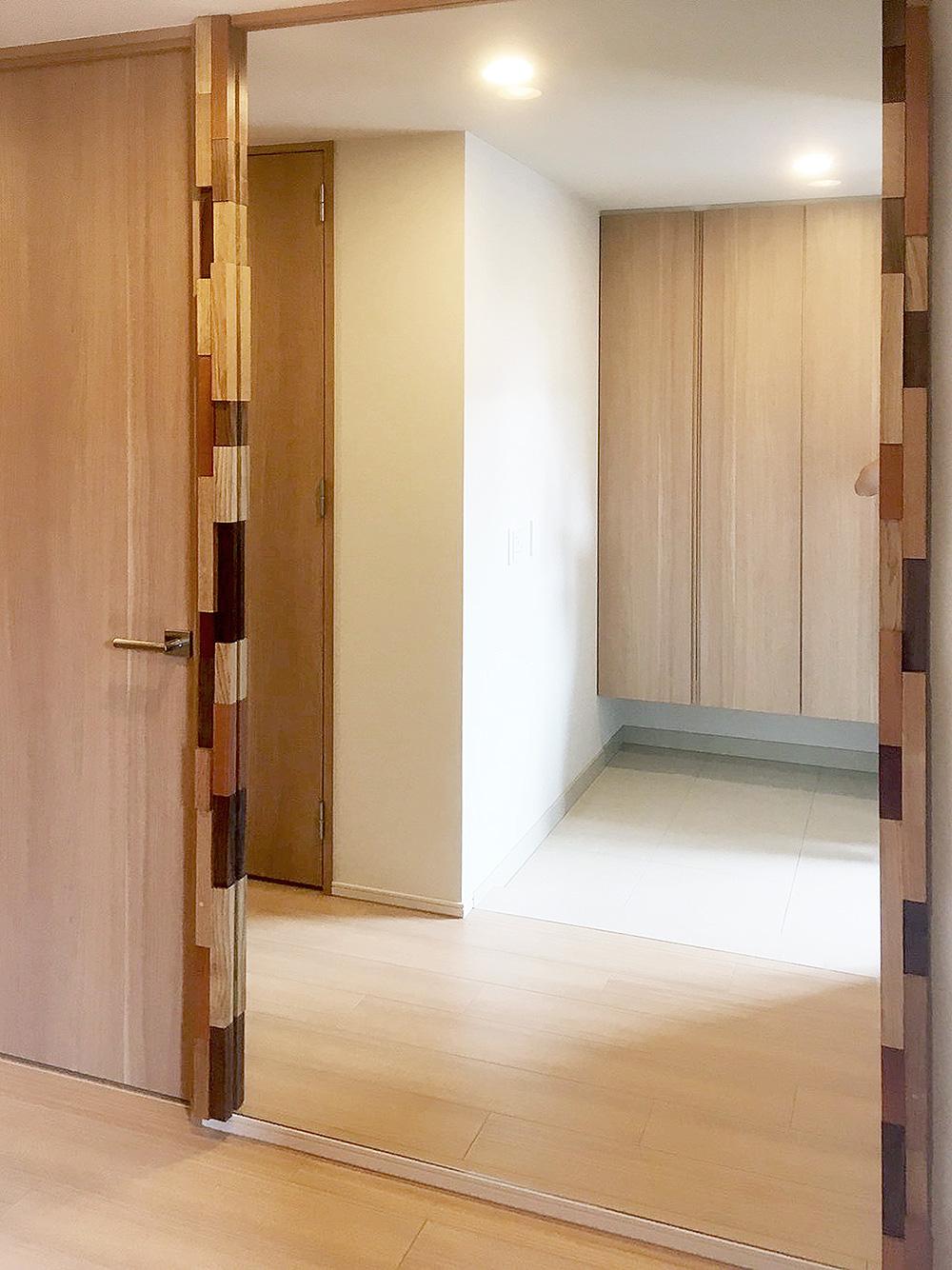 オーダー家具・玄関鏡/大阪・吹田市