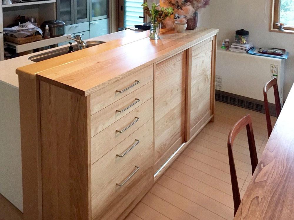 オーダー家具・キッチンカウンター収納/東北・宮城