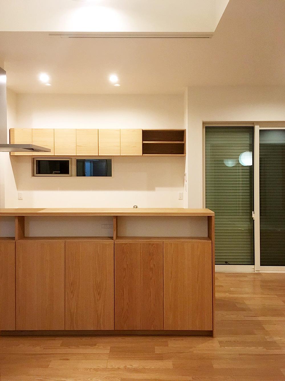 オーダー家具・キッチンカウンターとカップボード/関西・大阪・泉佐野