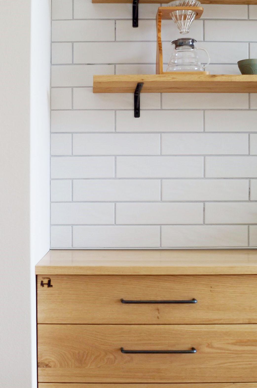 オーダー家具・カップボード食器棚/焼印