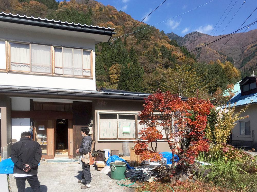 奥飛騨温泉郷の現場