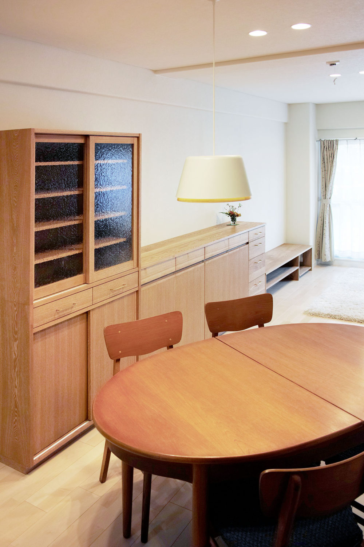 オーダー家具・食器棚、リビングボード、テレビボード/関西・大阪・豊中市